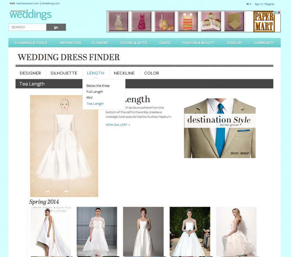 Martha Stewart Wedding Dress Finder H W Design